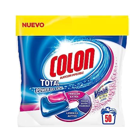 Colon Detergente para Lavadora de Ropa formato Capsulas con Quitamanchas Vanish - 50 dosis
