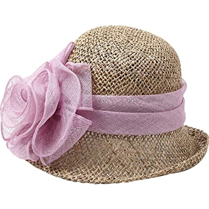 Sombrero ZHIRONG Hilo Flores Paja Playa para Mujeres al Aire Libre Gorra de  protección Solar de 2c90417b66ce