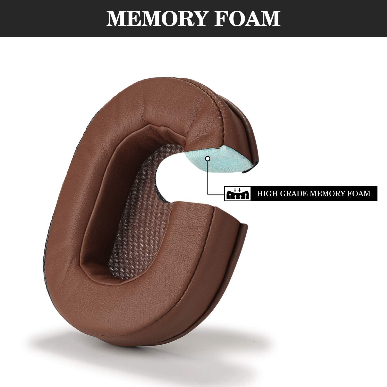 Reemplazo de Almohadillas de Espuma y Cuero de Espuma Almohadillas para Audio-Technica ATH-M50X M20 M30 M40 M50 SX1 Headphones Blanco