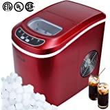 Della Portable Electric Ice Maker Machine Producing 26 Lbs. Of Ice Per Day- Red
