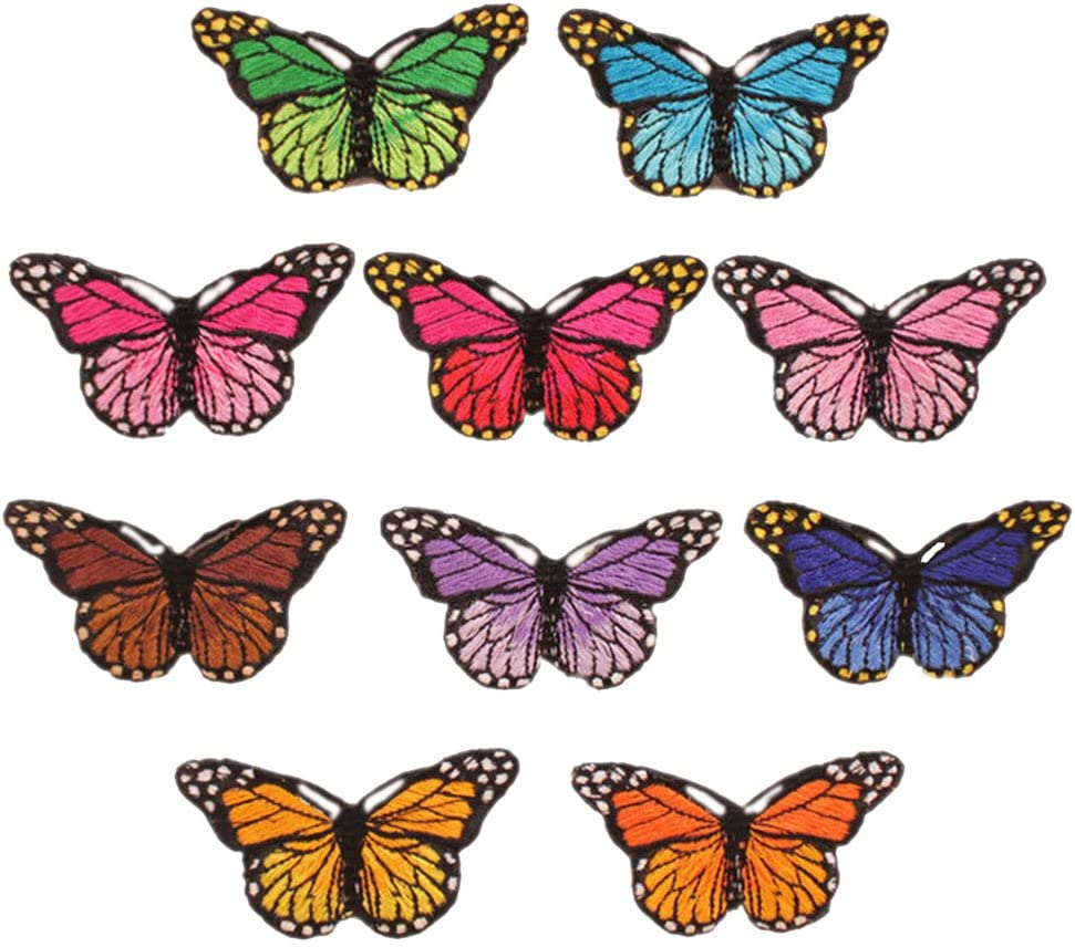 10pcs//Set Nice Butterfly Embroidered Patch Iron//Sew on Applique Water Sol Dxyc