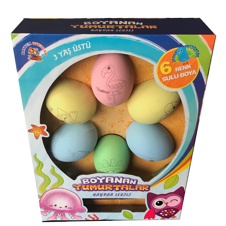 Büyük Yumurta Boyama Seti 6 Adet Yumurta 6 Sulu Boya Seti Amazon
