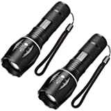 LED Tactical Flashlight - SKYROKU Portable Outdoor Torch Light Zoomable Flashlight - Best EDC Flashlight for Gift…