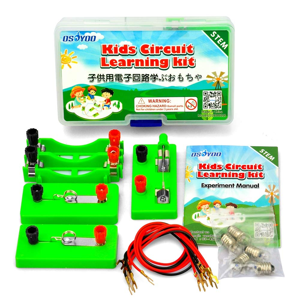 OSOYOO Kids Circuit Learning Kit for Science Study,Set up Series Circuit on