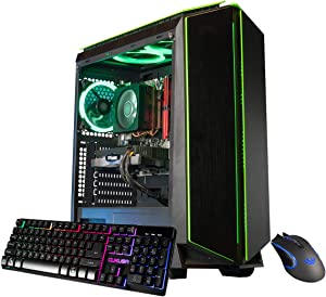 CUK Mantis Custom Gaming PC (AMD Ryzen 5 3600, 16GB DDR4 2666 RAM, 512GB NVMe SSD, NVIDIA GeForce GTX 1650 Super 4GB, 500W PSU, No OS) The Best New Tower Desktop Computer for Gamers