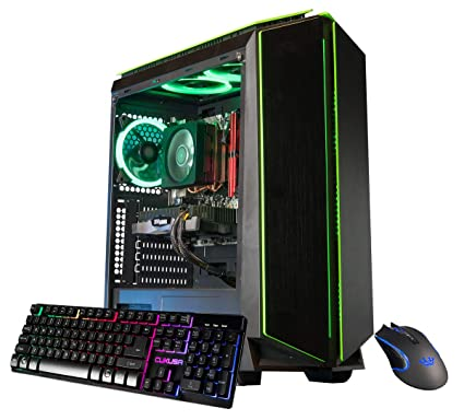 CUK Mantis Custom Gaming PC (AMD Ryzen 7 2700X, 16GB DDR4-3000 RAM, 500GB SSD, NVIDIA GeForce RTX 2060 6GB, 600W Gold PSU, Windows 10) The Best New VR ...