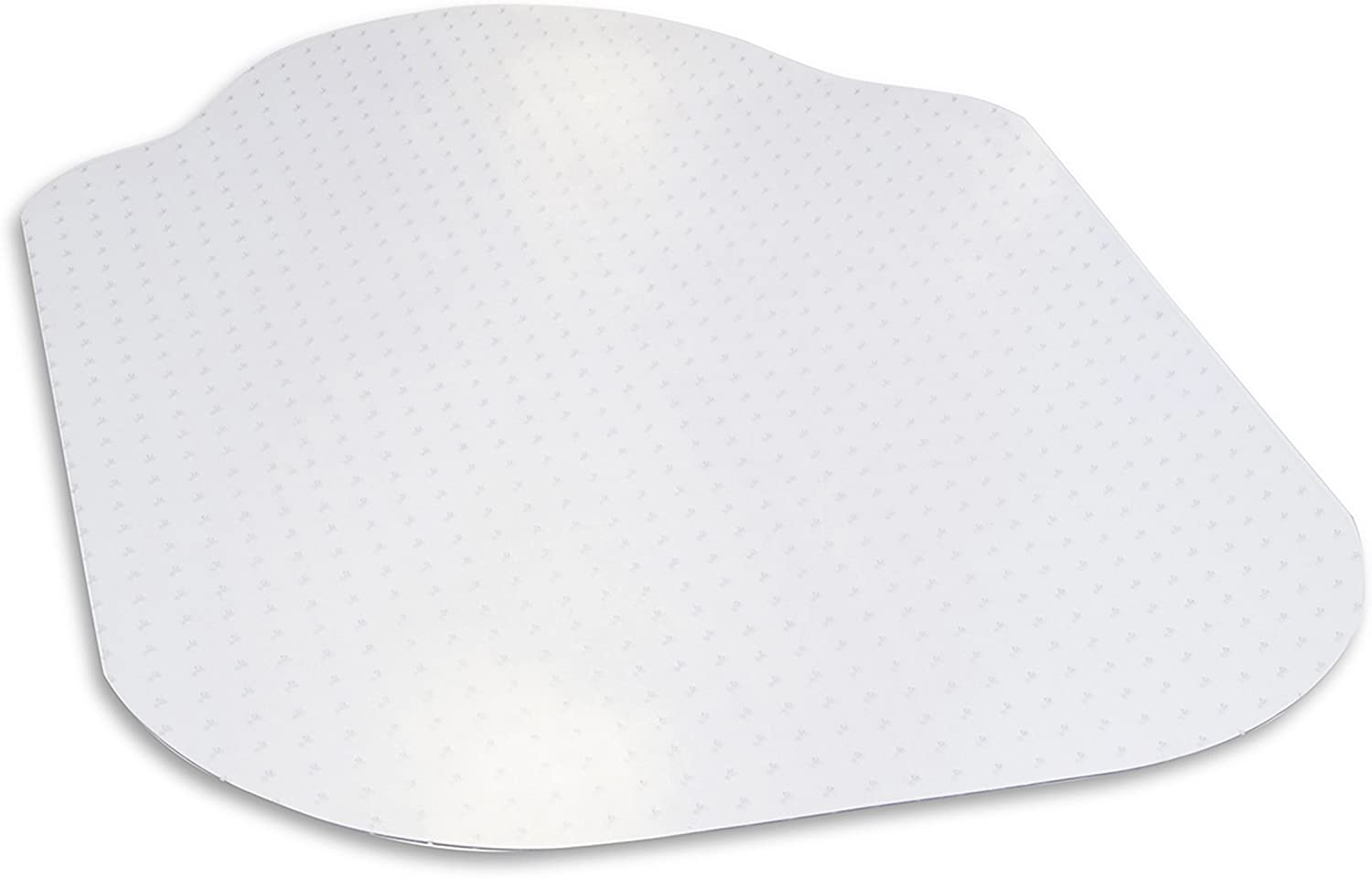 "Evolve Modern Shape 36"" x 48"" Clear Office Chair Mat with Lip for Low and Medium Pile Carpet, Made in The USA by Dimex, (C515003J)"