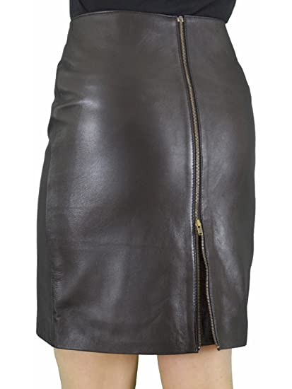 d857a3e977e7 Ashwood for Tout Ensemble Black Genuine Real Luxury Soft Leather Pencil  Skirt with Full Rear Zip