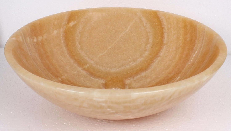 B0055 nw Vasque /à poser en pierre naturelle jaune rond lavabo /évier salle de bains cercle 35cm de diam/ètre x 12cm de profondeur