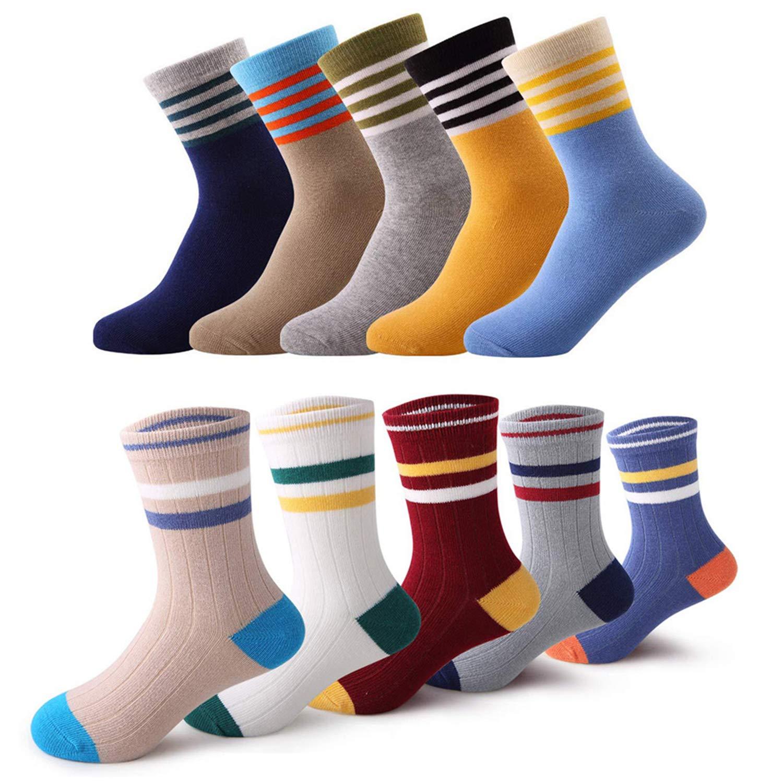 storeofbaby Toddler Kids Boys Socks 10 Pairs Fun Novelty Fashion Cotton Crew Dress Socks