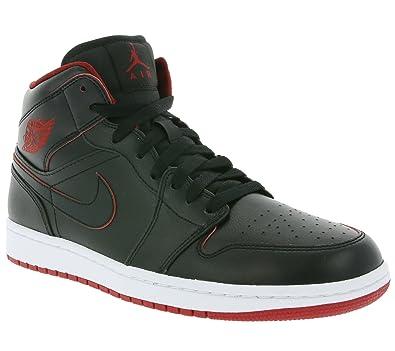 online store 26ea9 fae4a NIKE Air Jordan 1 Mid BG Schuhe Kinder Sneaker Sportschuhe Schwarz 554725  028, Größenauswahl