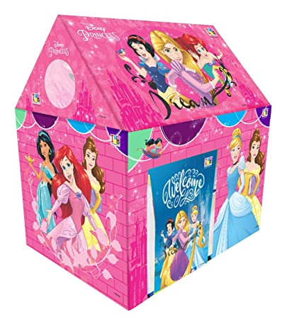 Disney Princess Play Tent House for Kids of Age 3 to 8 Years in Handle Box Packing in Multi Color Play Tents at amazon