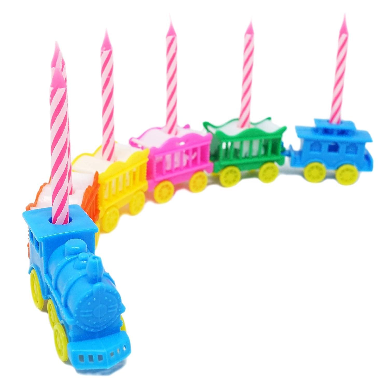Vintage Animal tren vela soporte conjunto w/rosa velas: Amazon.es: Juguetes y juegos