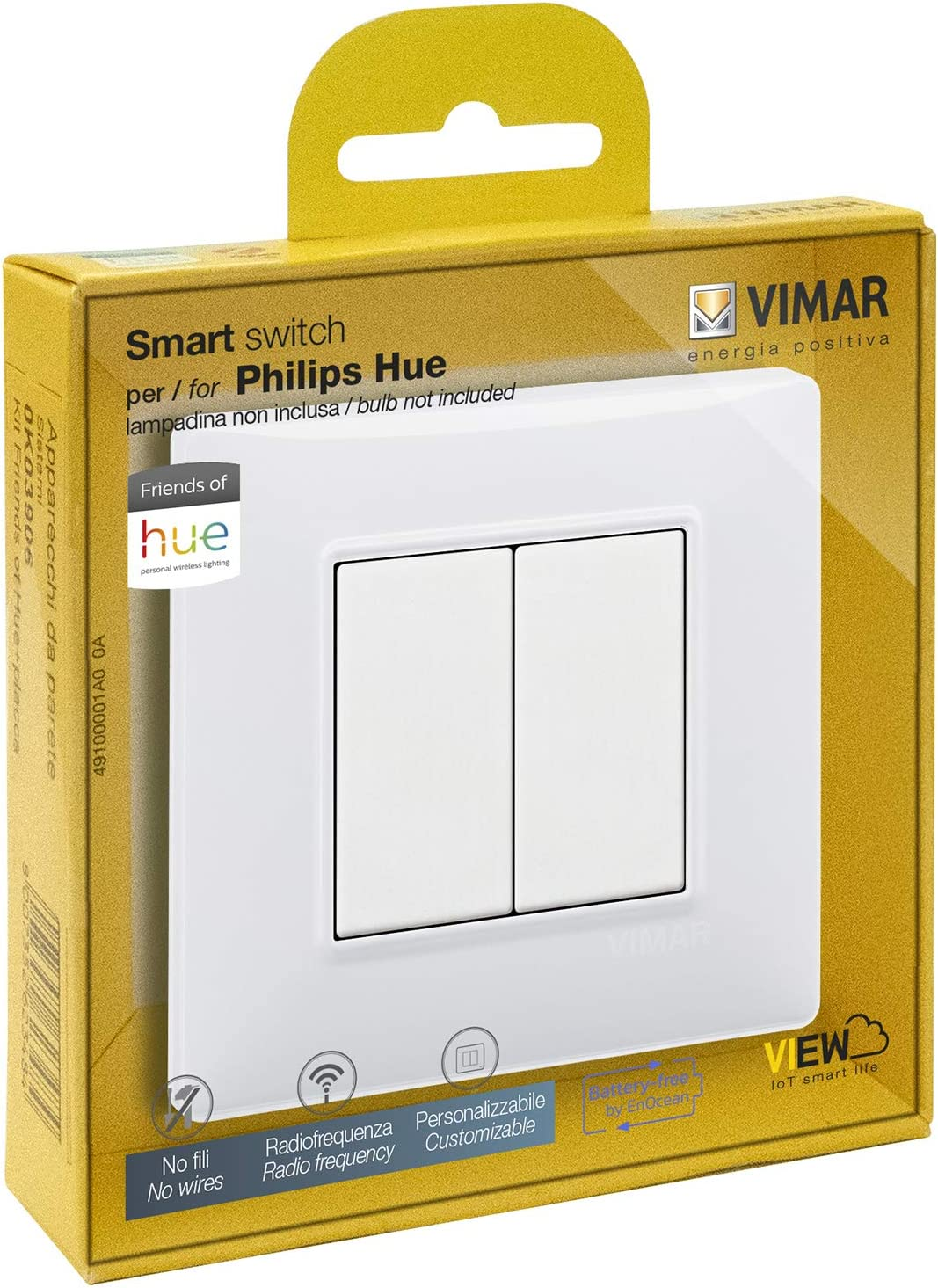 VIMAR 0K03906.04 Plana Kit Interrupteur sans Fil en radiofréquence Philips Friends of...