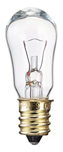 Philips 416099 6-Watt S6 12-Volt Candelabra Base Indicator Light Bulb, 2-Pack