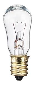 Philips 416099 6-Watt S6 12-Volt Candelabra Base Indicator Light Bulb, 2-Pack