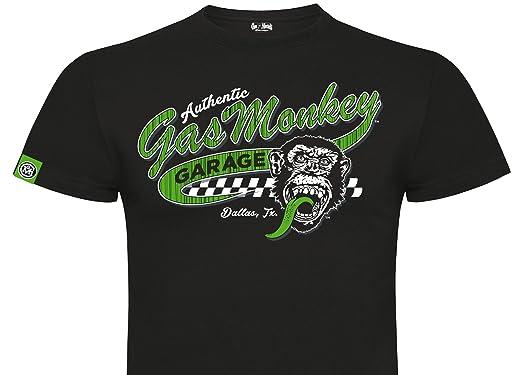Garage T Shirts : Gas monkey garage t shirt green vintage athletic logo black xxxl