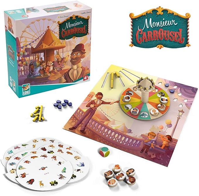 Lúdilo- Monsieur Carrousel, cooperativo, Mesa, Juego Educativo niños, Color carbón (Loki 515729): Amazon.es: Juguetes y juegos