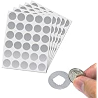 """150 Pack, 1"""" Silver Scratch Off Stickers Labels Round Circle"""