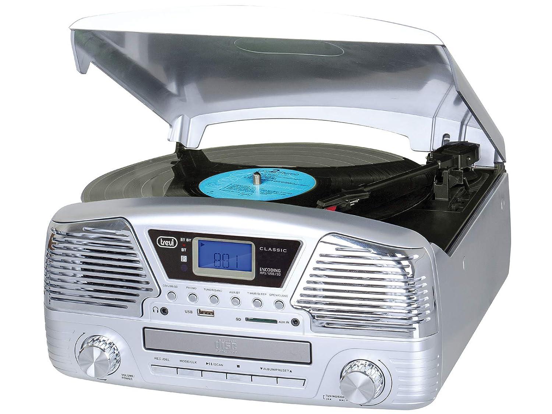 Trevi TT 1068 E Plata - Tocadiscos (Plata, 33,45,78 RPM, Giratorio ...
