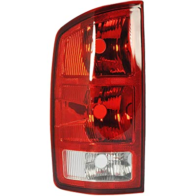 Driver Side Taillight Tail Light Lamp for 2002-2006 Dodge Ram 1500, 2500, 3500 CH2800147 55077347AF - Includes the Bulbs: Automotive