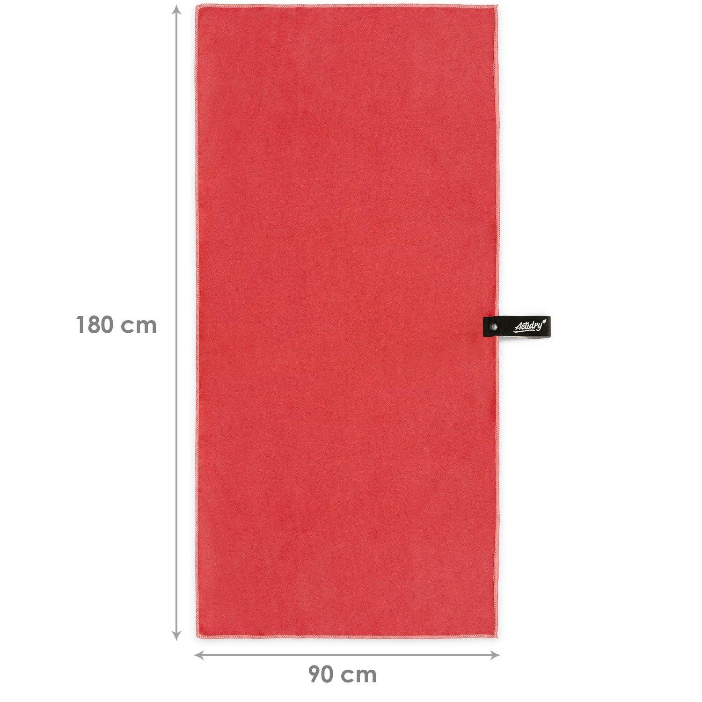 ACTiDRY Toalla de Microfibra - ligera y absorbente - 9 colores S M L XL - ideal para la playa, los deportes y la actividad al aire libre - L (90 x 180 cm) 1 ...