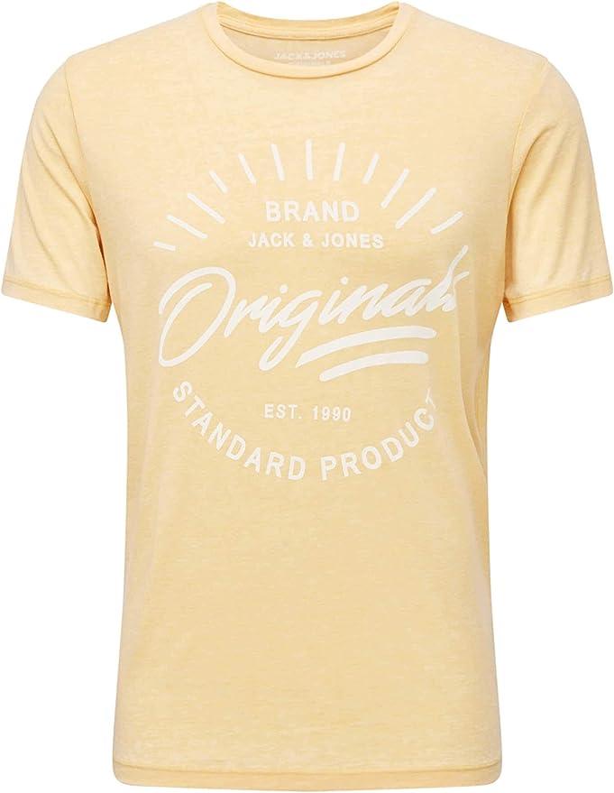 Jack & Jones Camiseta original para hombre de verano con logo impresión de manga corta JORNewHero 12155595: Amazon.es: Ropa y accesorios