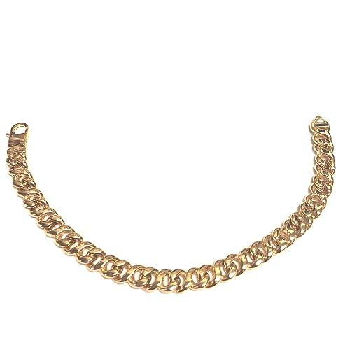 3b9d76a18c8d Pulsera de eslabones ovalados para hombre de oro amarillo de 14 quilates