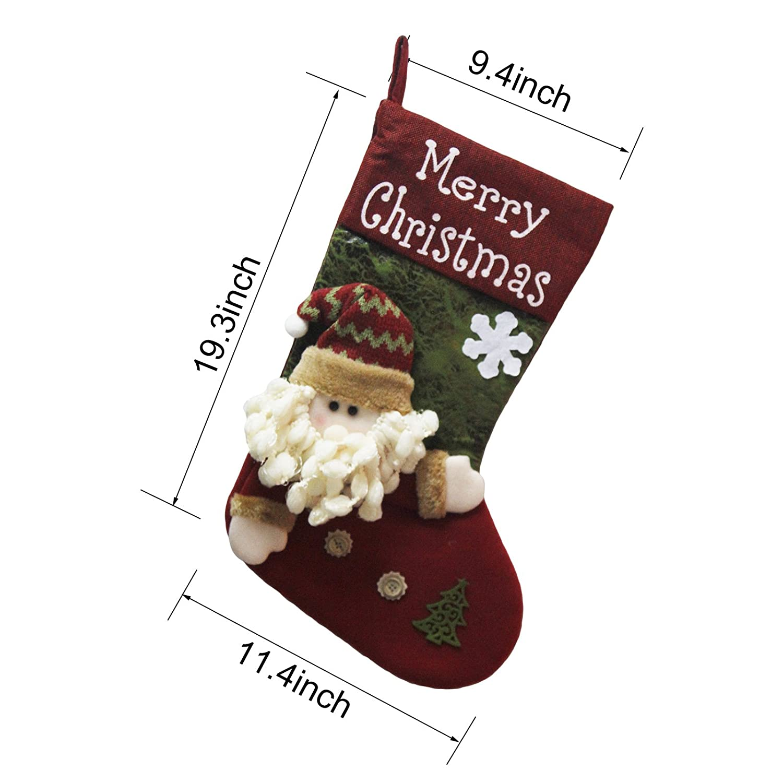 Amazon.com: VentoMarea 2 Pcs Set Christmas Stockings for Kids 19 ...