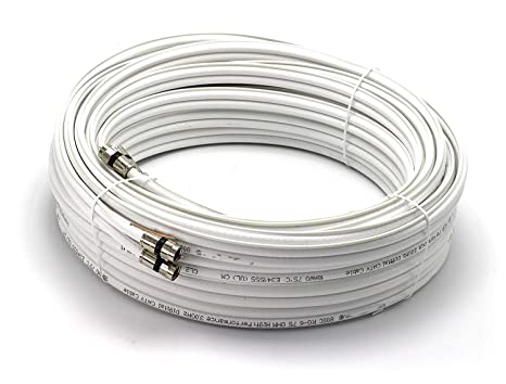 THE CIMPLE CO - 50ft Dual with Ground RG6 Coaxial | Made in The USA |