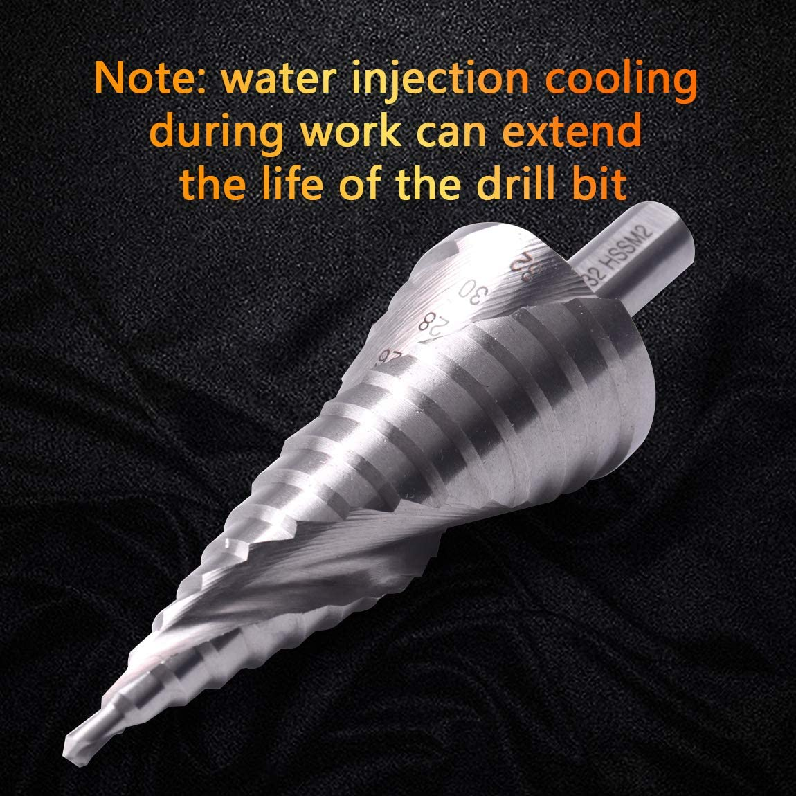ATOPLEE HSS6542 Spiral Groove Step Drill Bit for Stainless Steel Cutting,4-32mm
