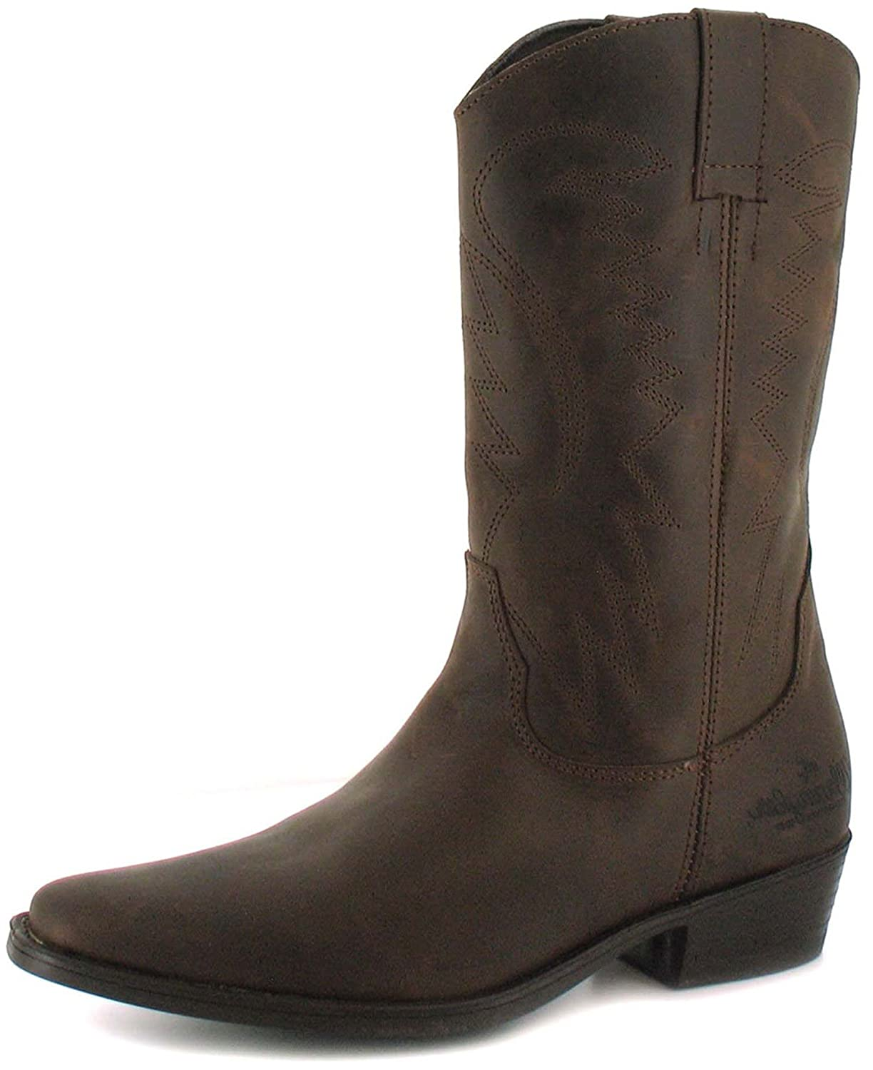 b9fa1afeae5 Wrangler Tex Hi Mens Other Leather Material Boots Dark Brown