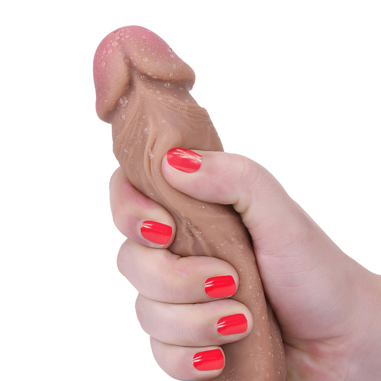 Lamantt 8.7 Zoll Zwei Layer Flüssigsilikon Dildo mit starkem Saugnapf,Penis Nachbildung Super Sex Toys Absolut Realistisch, FDA Genehmigt Material