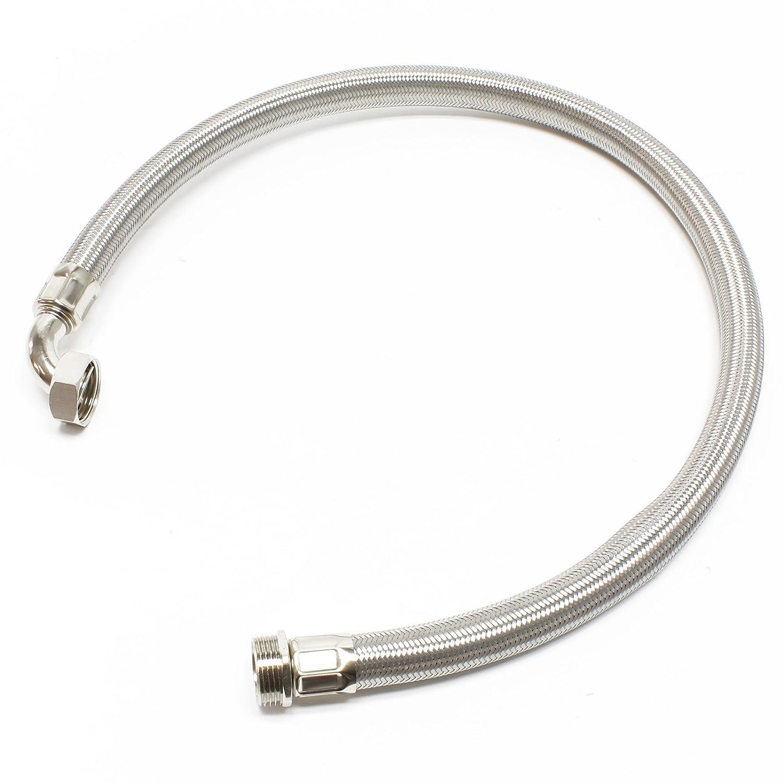 Tuyau flexible acier 1m, 1' pour installation d'eau domestique 1 pour installation d' eau domestique WilTec