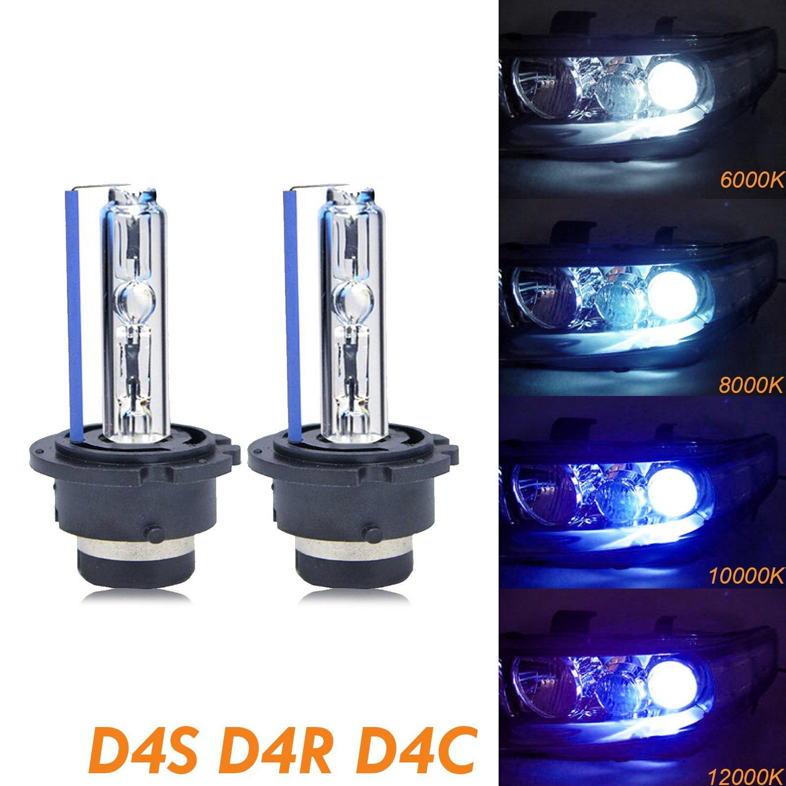 Xotic Tech D4S D4C D4R HID OEM Direct Replacement Headlight Xenon Beam Bulbs[12000K Purple]
