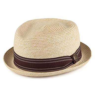 557f3c2426a55 Village Hats Goorin Brothers Habana Pork Pie Hat - Natural Natural X-Large   Amazon.co.uk  Clothing