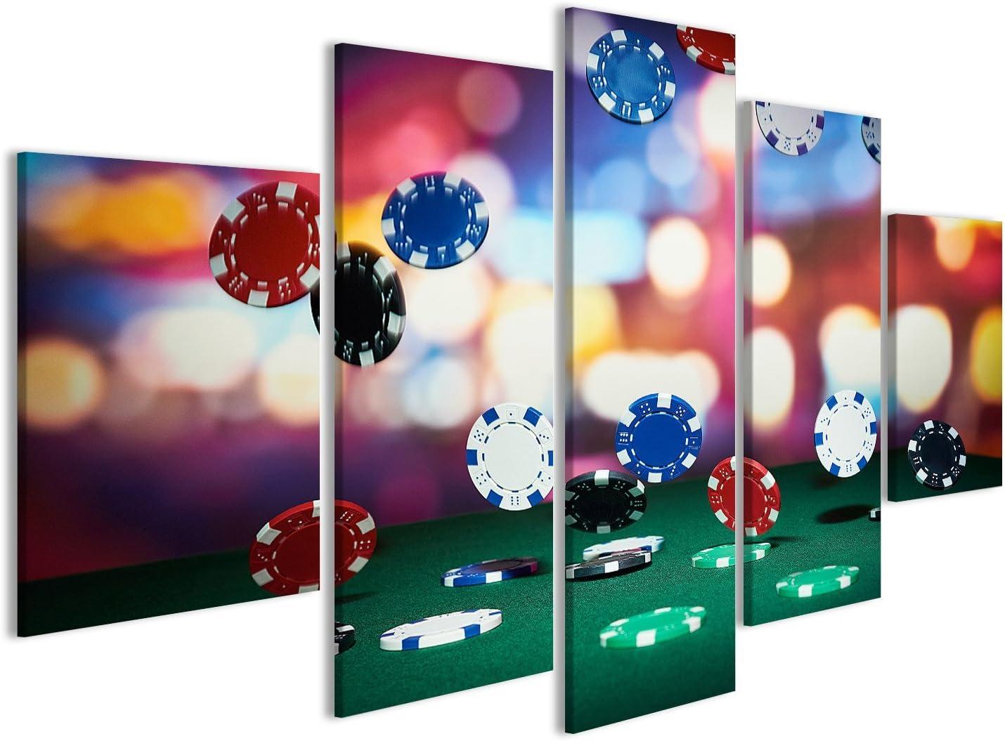 islandburner Cuadro Cuadros Fichas de póquer en la Mesa del Casino Genial y Muy Bonito GDW: Amazon.es: Hogar