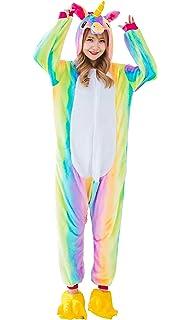 Yutown Adult Unicorn Pajamas Animal Costume Cosplay Onesie Halloween Gift  Rainbow Pegasus M ccdbe92f6