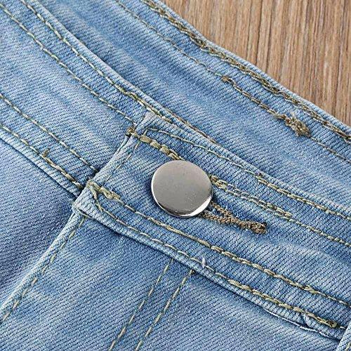 Ajustados Cortos Pantalones Con Sexy Skinny EláStico Cintura Push Jeans Verano Vaqueros Alta Up Ultra Cordones De Mujer LHWY Vaqueros zgOqTO