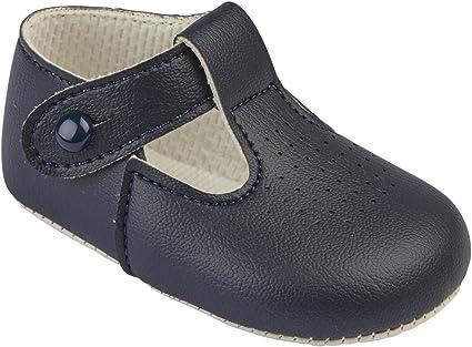 Baypods Toddler /& Boys Spanish Style Romany Walking Shoes White /& Navy Blue Boat