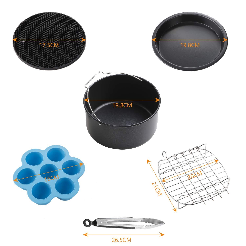 friteuse /à air Chaude /écran Tactile LCD Innsky 5.5L XL Friteuse /électrique sans Huile 5.5L friteuse sans huile avec Recette Gratuite Multifonction avec 8 programmes Cuisson en Une Touche