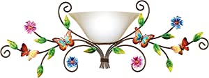 Hand-Painted Butterfly Garden Wall Lamp with Remote Control