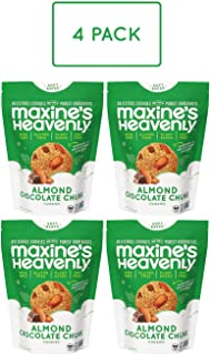 product image for Maxine's Heavenly - Plant Based, Gluten Free, Low Sugar - Almond Chocolate Chunk Cookies (Pack of 4)