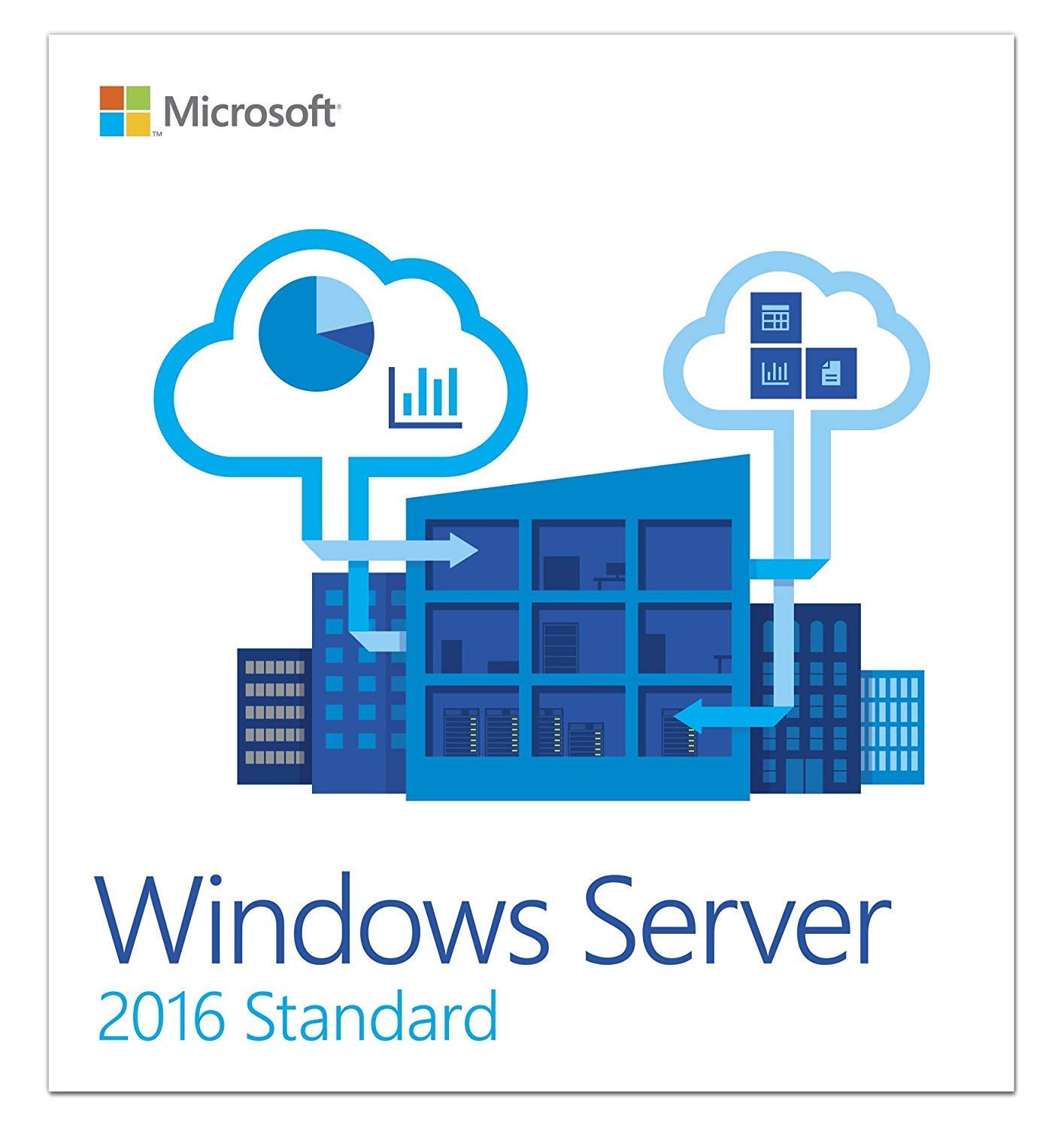 Windows Server 2016 Standard 64 bit 16 Core - Standard OEM - DVD disk - English by Servo Soft