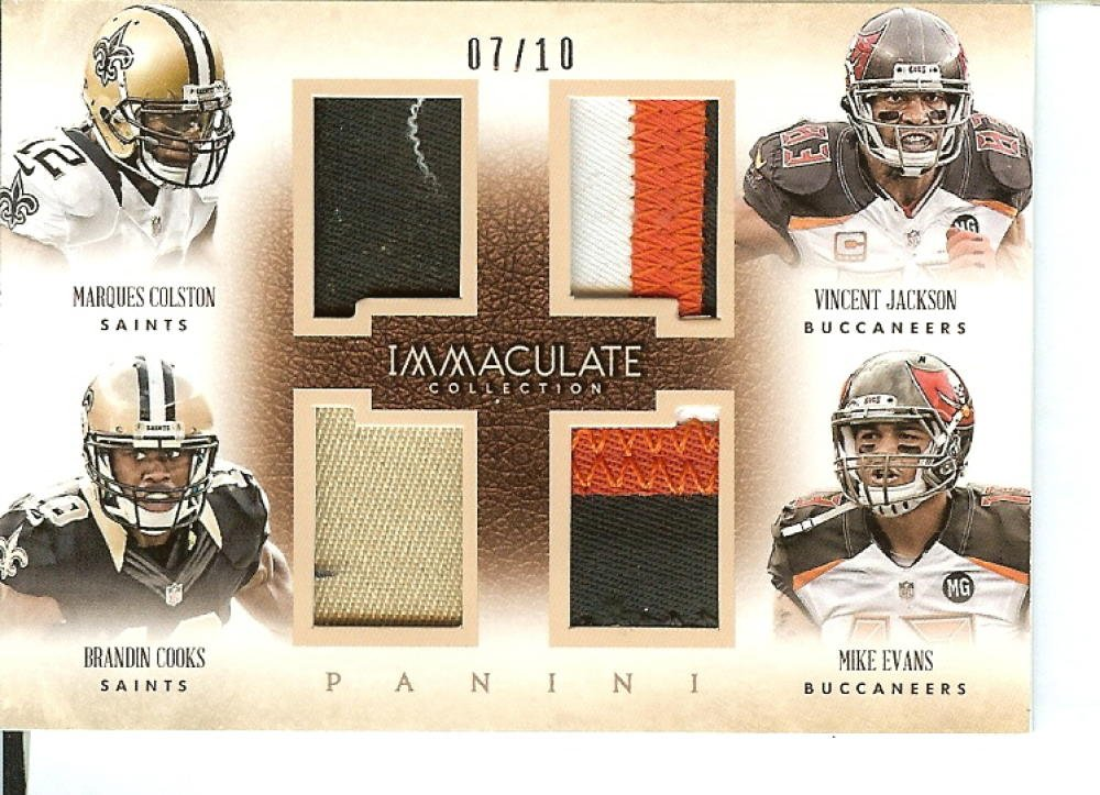Football NFL 2014 Immaculate Collection Quads Prime #14 Brandin Cooks/Marques Colston/Mike Evans/Vincent Jackson 7/10 Panini