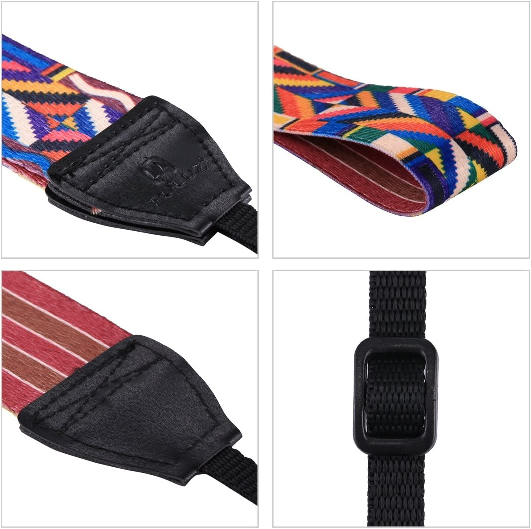 Color : Color3 WEIHONG Strap Retro Ethnic Style Multi-Color Series Shoulder Neck Strap Camera Strap for SLR//DSLR Cameras WEIHONG