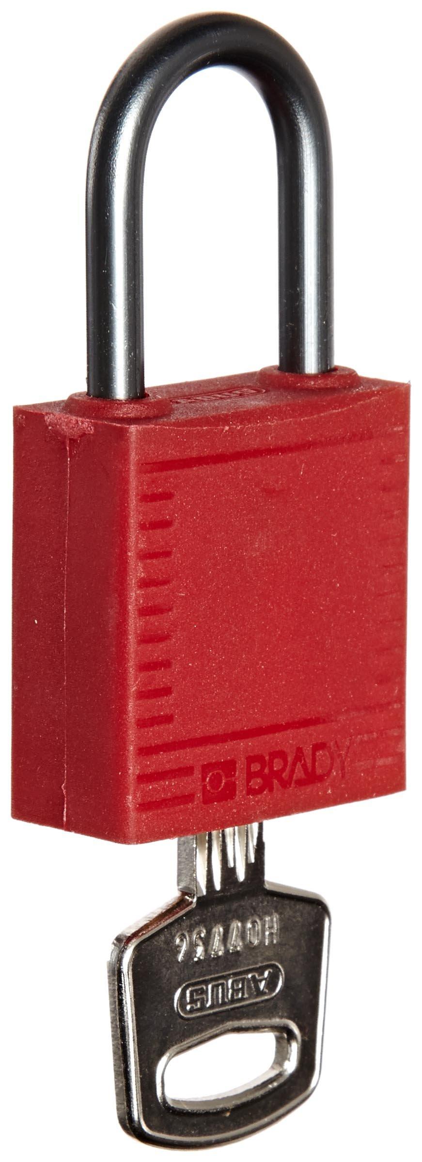 Brady 118954 Red, Brady Compact Safety Lock - Keyed Alike (6 Locks)