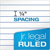 """TOPS The Legal Pad Writing Pads, 5"""" x 8"""", Jr. Legal Rule, 50 Sheets, 12 Pack"""