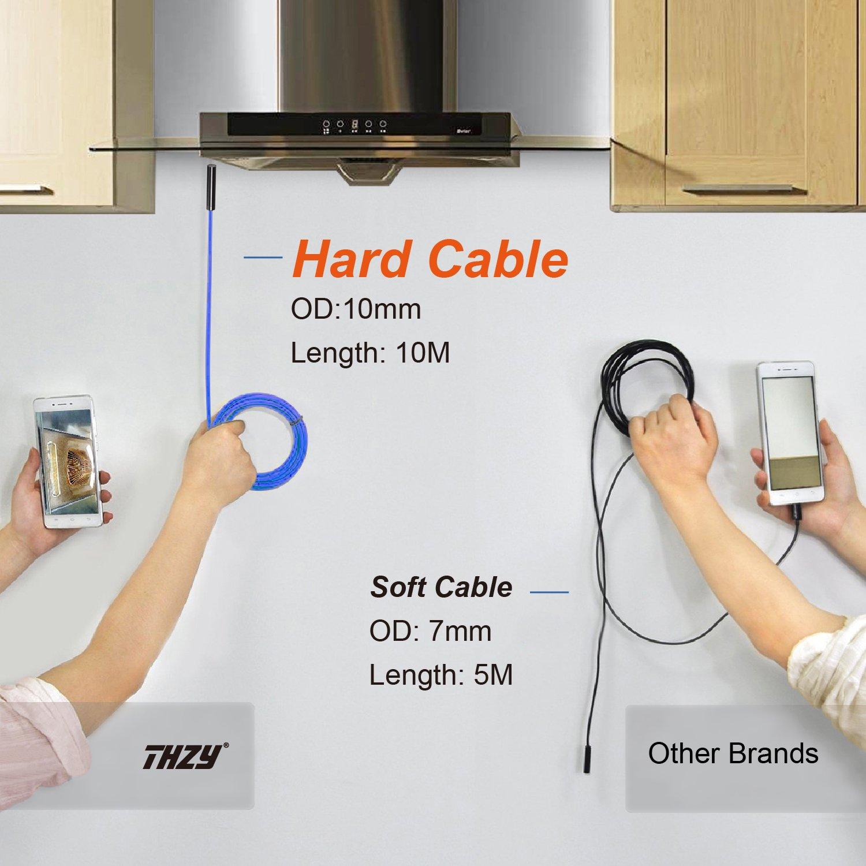 2.0 Megapixel HD 720P Wifi Impermeabile Ispezione Snake Camera per iOS iPhone Android Phone Tablet PC 10M//32.8ft Senza fili Endoscopio THZY WiFi Endoscopio