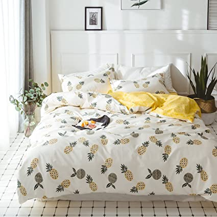 girls queen bed. ON SALE Fruits Pineapple Print Kids Duvet Cover Set Queen Reversible Geometric Bedding Cotton Boys Girls Bed B